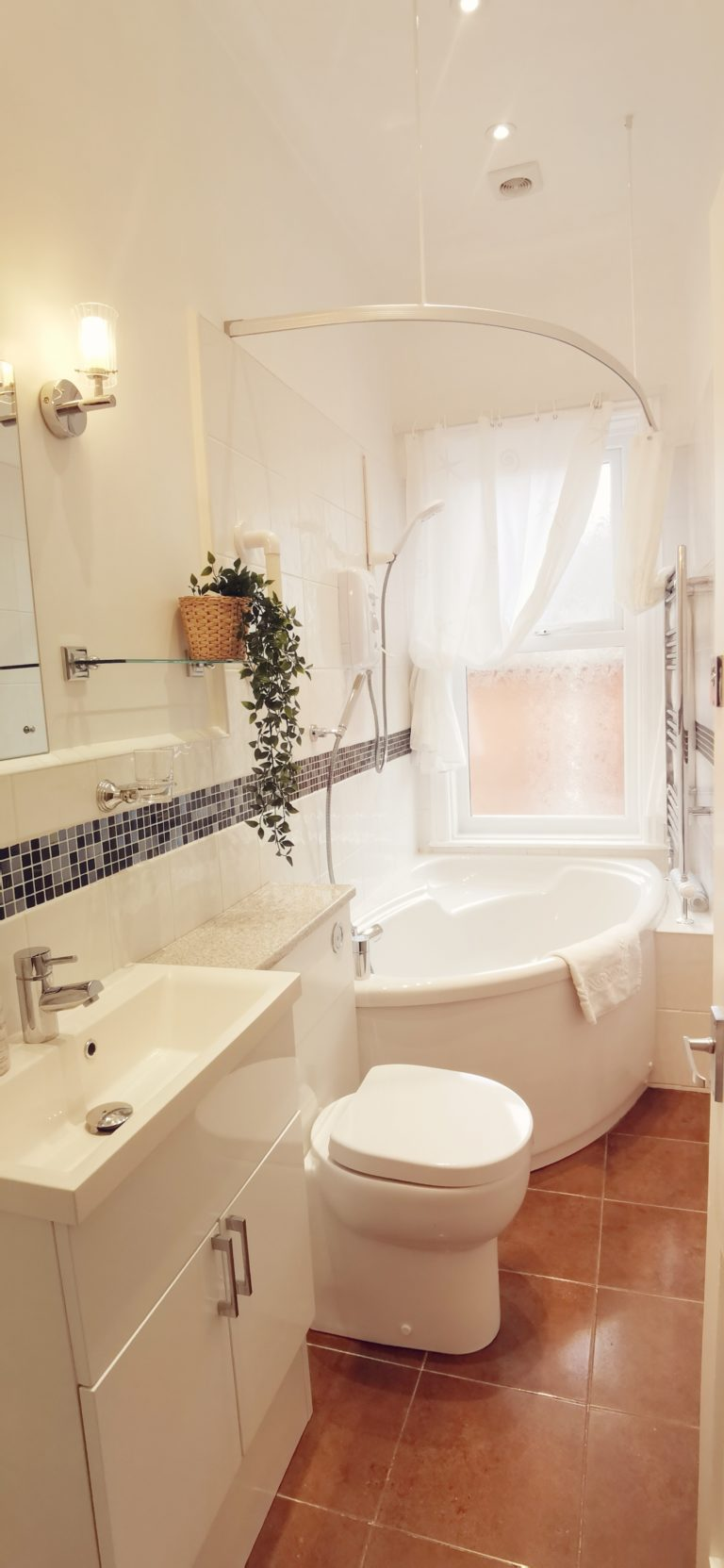 Bathroom with Corner Bath