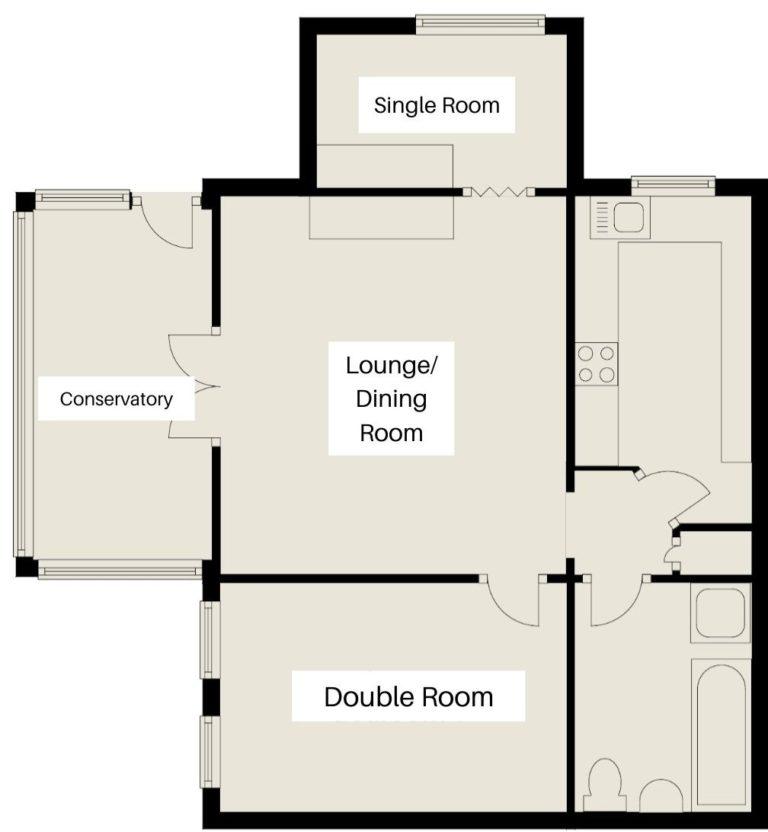 Garden Apartment Floor Plan